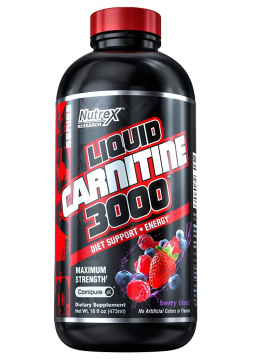 LIQUID L-CARNITINA 3000 - 480ML BERRY BLAST, NUTREX